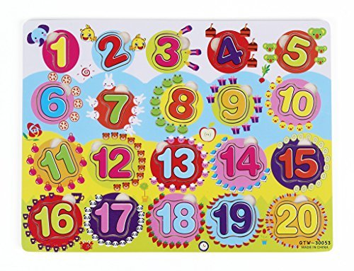 Vidatoy Numbers 1 To 20 Puzzle For Kids With Number Of