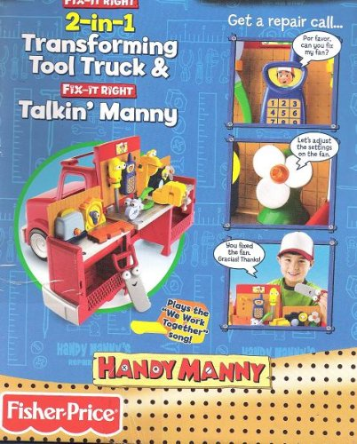 Disney Handy Manny 2 In 1 Transforming Tool Truck And Fix