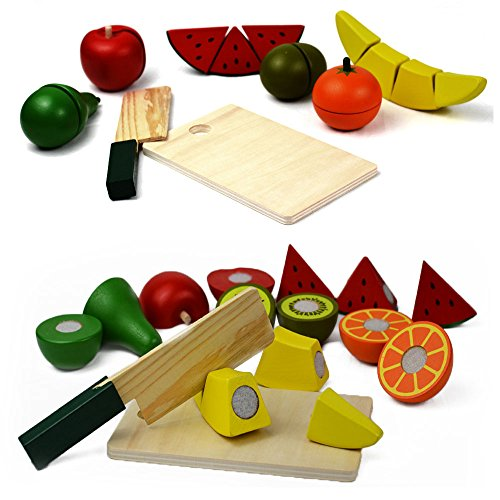 food wooden toys cutting fruit set pretend food cutting. Black Bedroom Furniture Sets. Home Design Ideas
